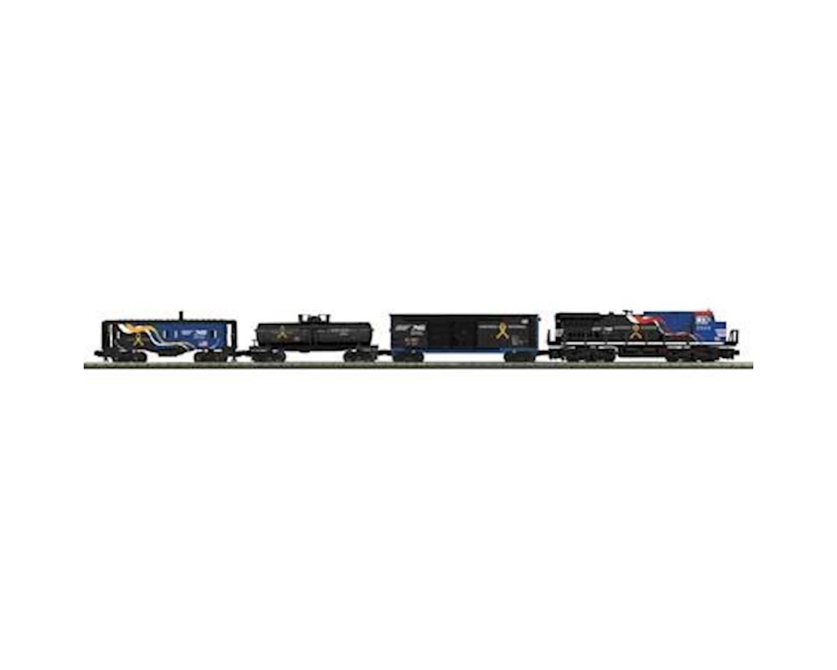 MTH Trains O-27 Dash-8 Freight Set w/PS3, NS/Veterans