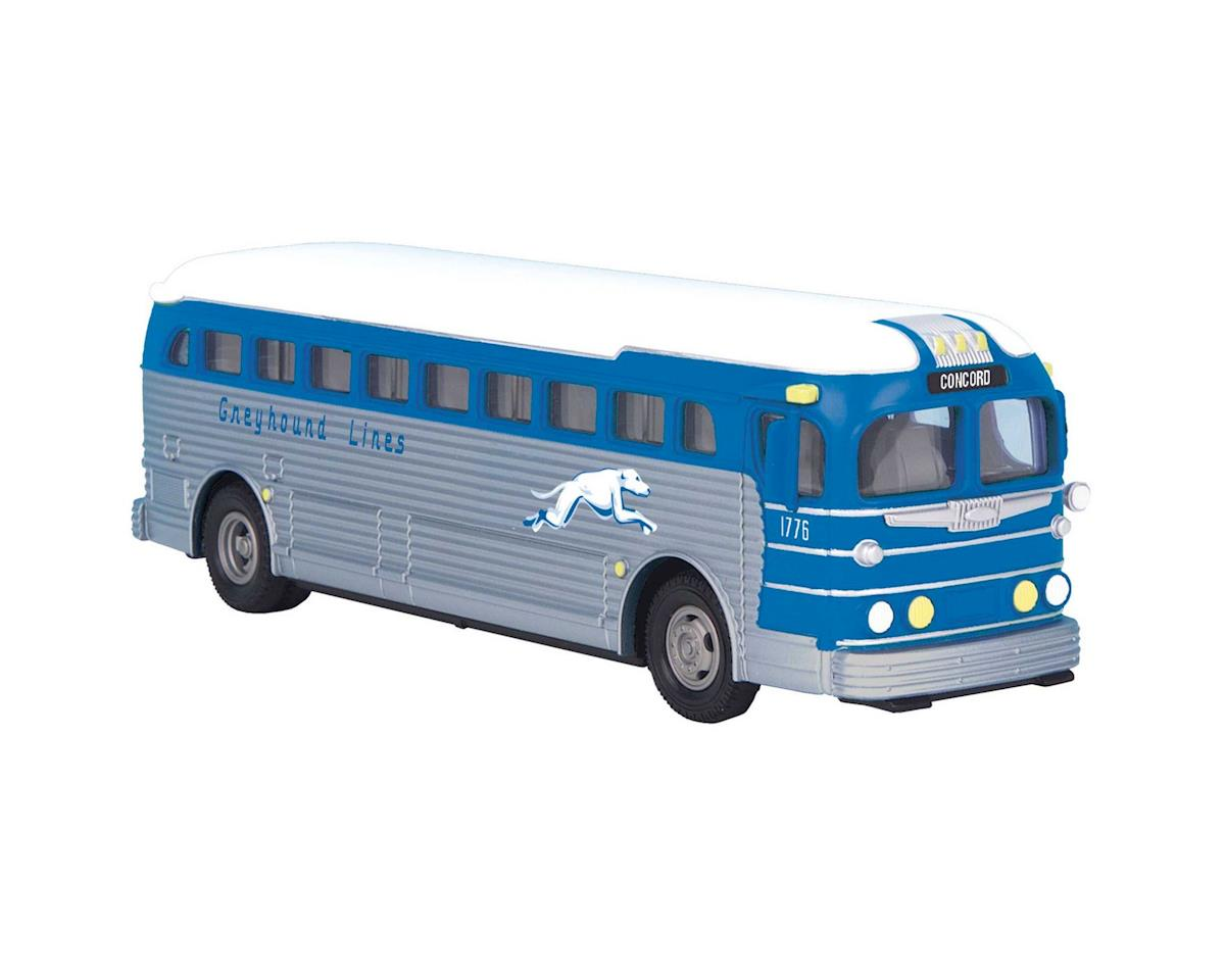 MTH Trains O Die-cast Bus, Greyhound/Concord
