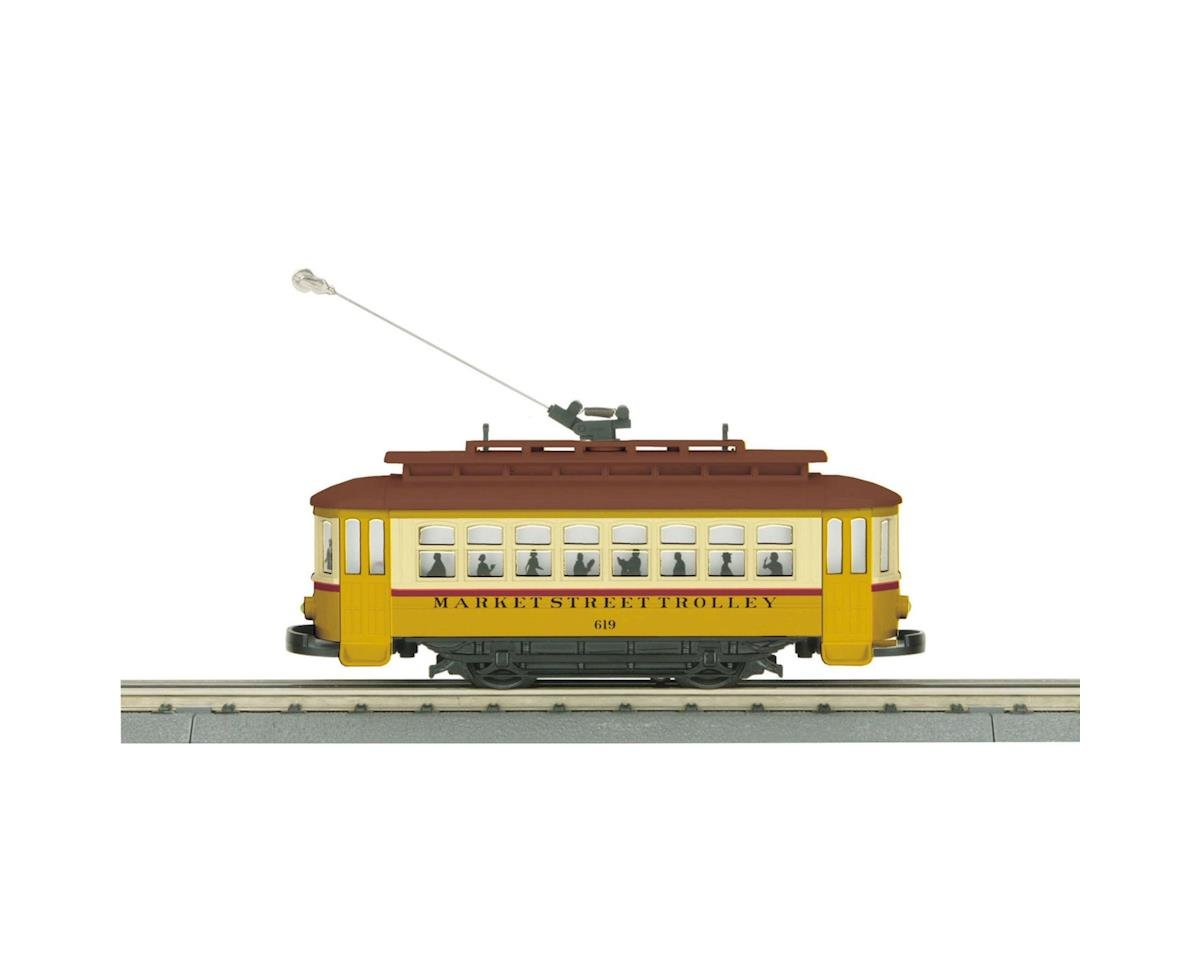MTH Trains O-27 Bump-n-Go Trolley,  Market Street