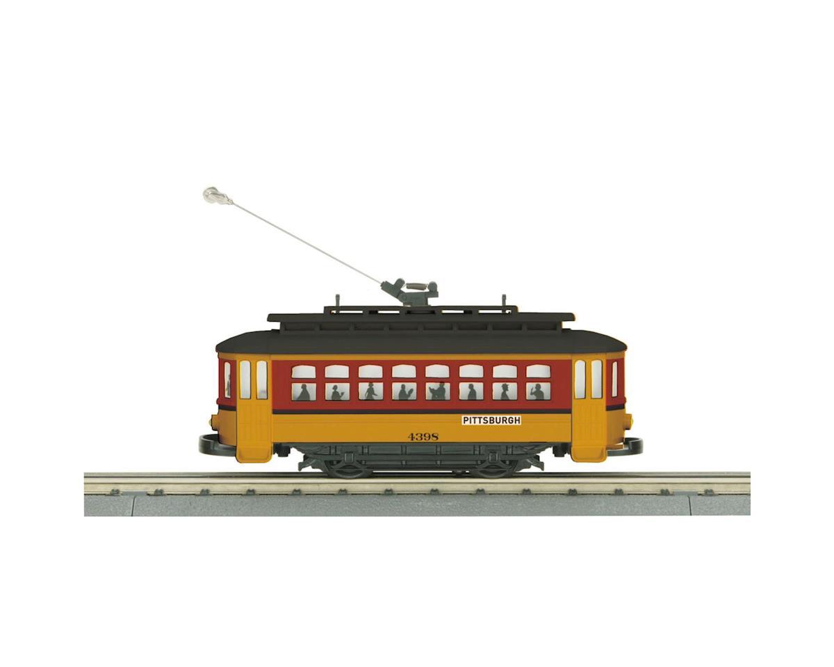 MTH Trains O-27 Bump-n-Go Trolley, Pittsburgh