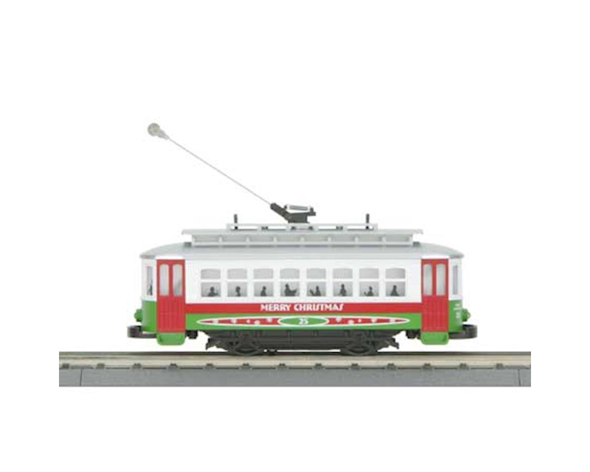 MTH Trains O-27 Bump-n-Go Trolley, Christmas