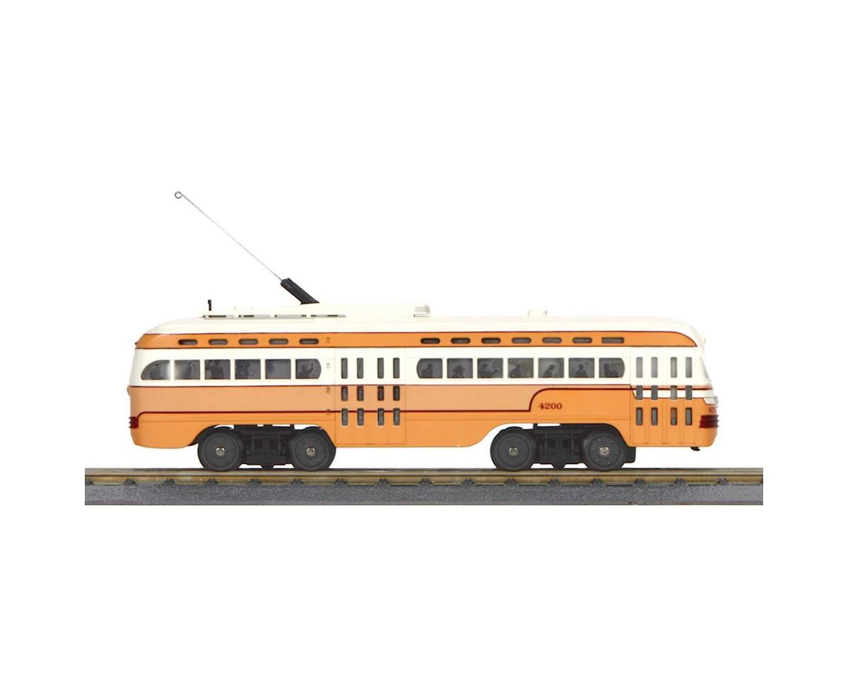 MTH Trains O-27 PCC Street Car w/PS3, Cleveland #4200