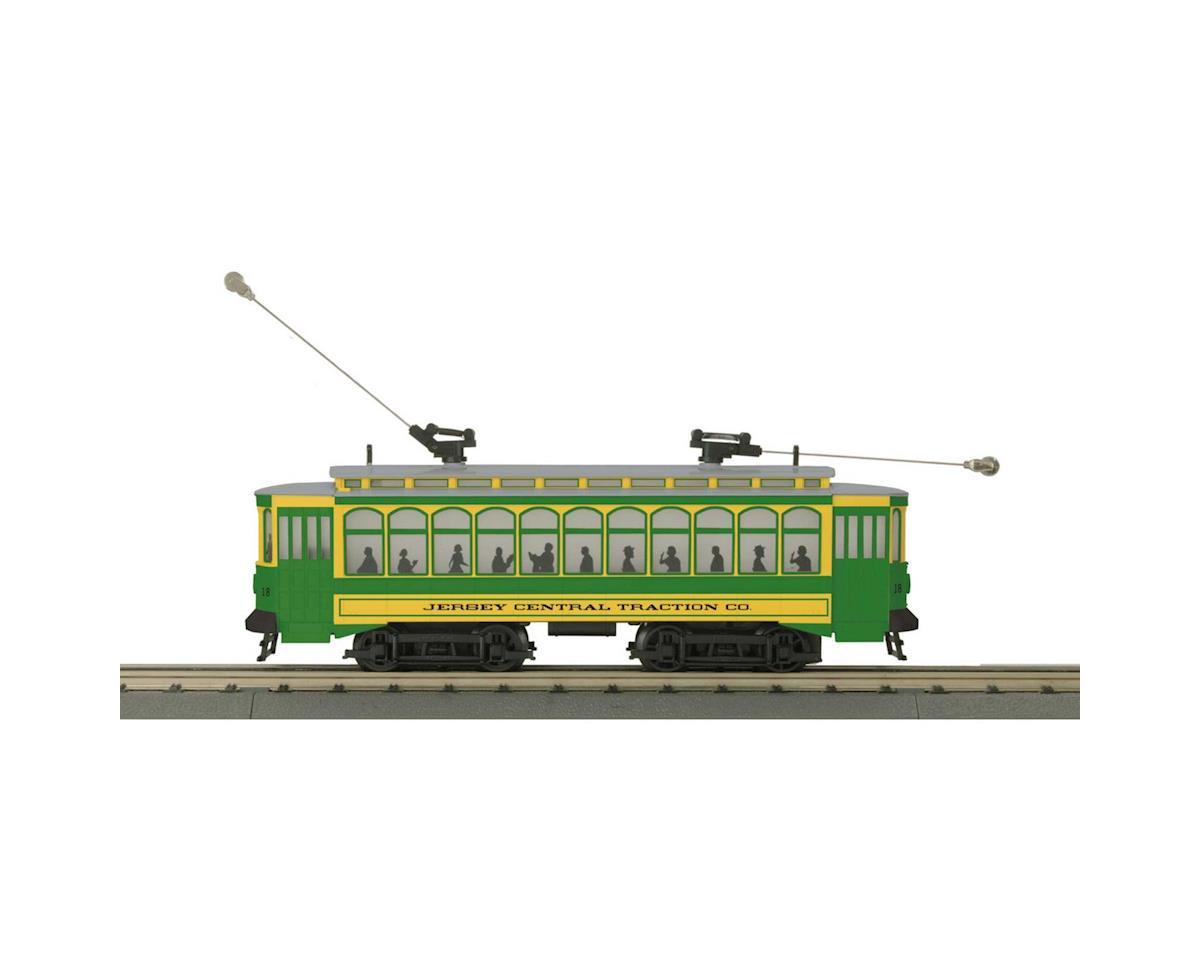 MTH Trains O-27 Brill Trolley w/PS3, CNJ #18
