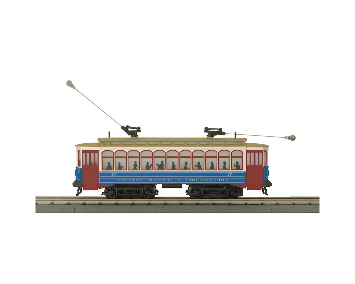 MTH Trains O-27 Brill Trolley w/PS3, SEPTA #17