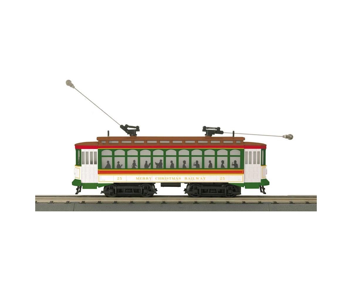 MTH Trains O-27 Brill Trolley w/PS3, Christmas #25