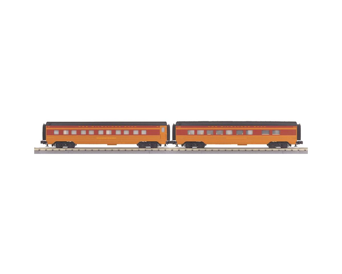 MTH Trains O-27 60' Streamline Sleeper/Diner, MILW