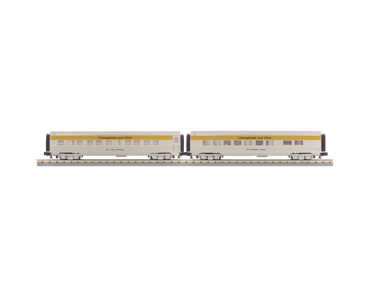 MTH Trains O-27 60' Streamline Sleeper/Diner, C&O