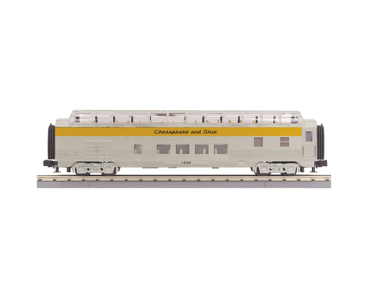 MTH Trains O-27 60' Streamline Full Vista Dome, C&O