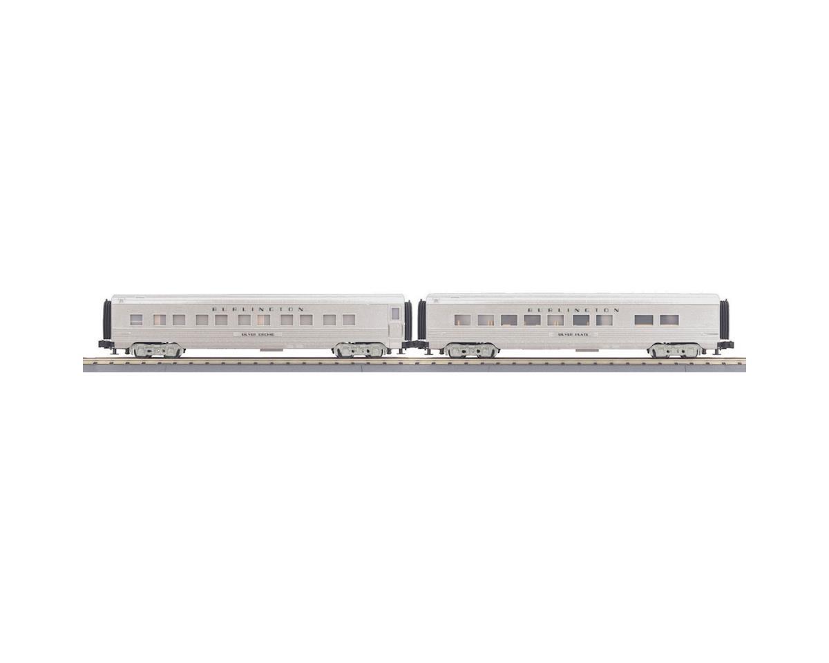 MTH Trains O-27 60' Streamline Sleeper/Diner,CB&Q