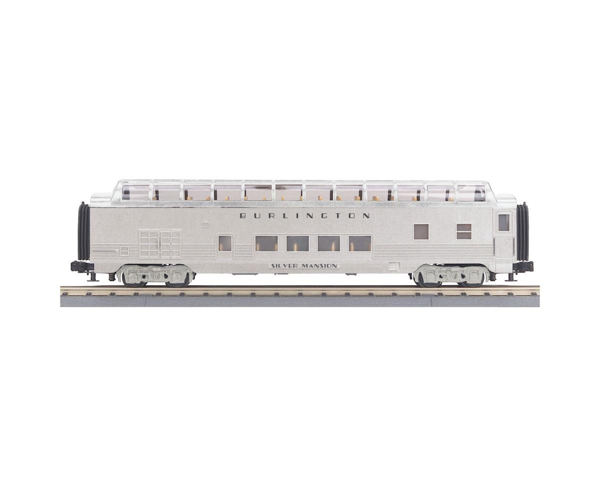 MTH Trains O-27 60' Streamline Full Vista Dome, CB&Q