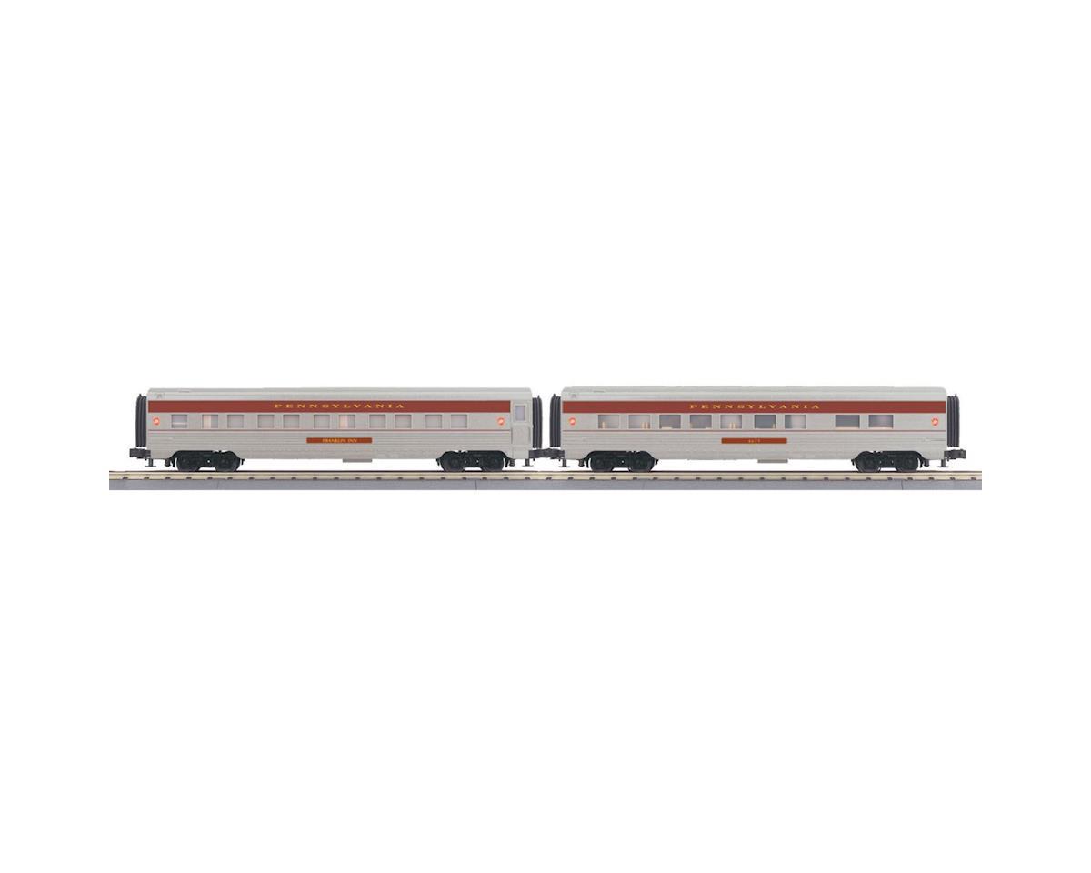 MTH Trains O-27 60' Streamline Sleeper/Diner, PRR