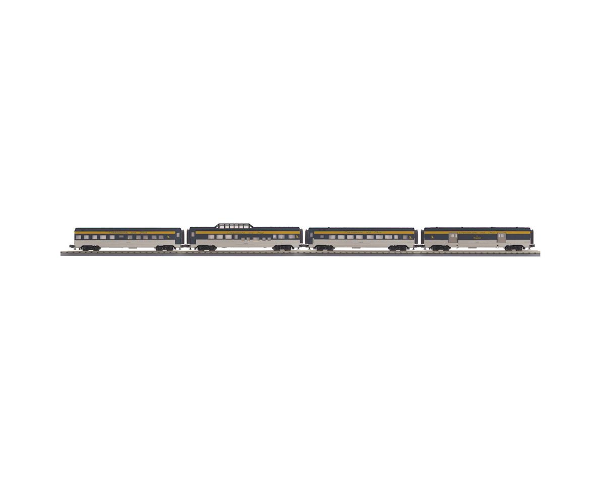 MTH Trains O-27 60' Streamline Passenger, C&O (4)