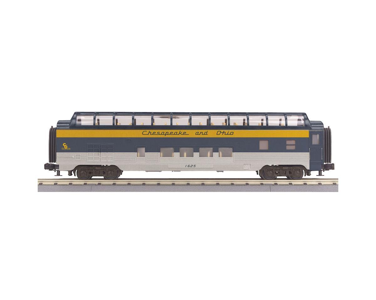 MTH Trains O-27 60' Streamline Full Vista Dome, C&O