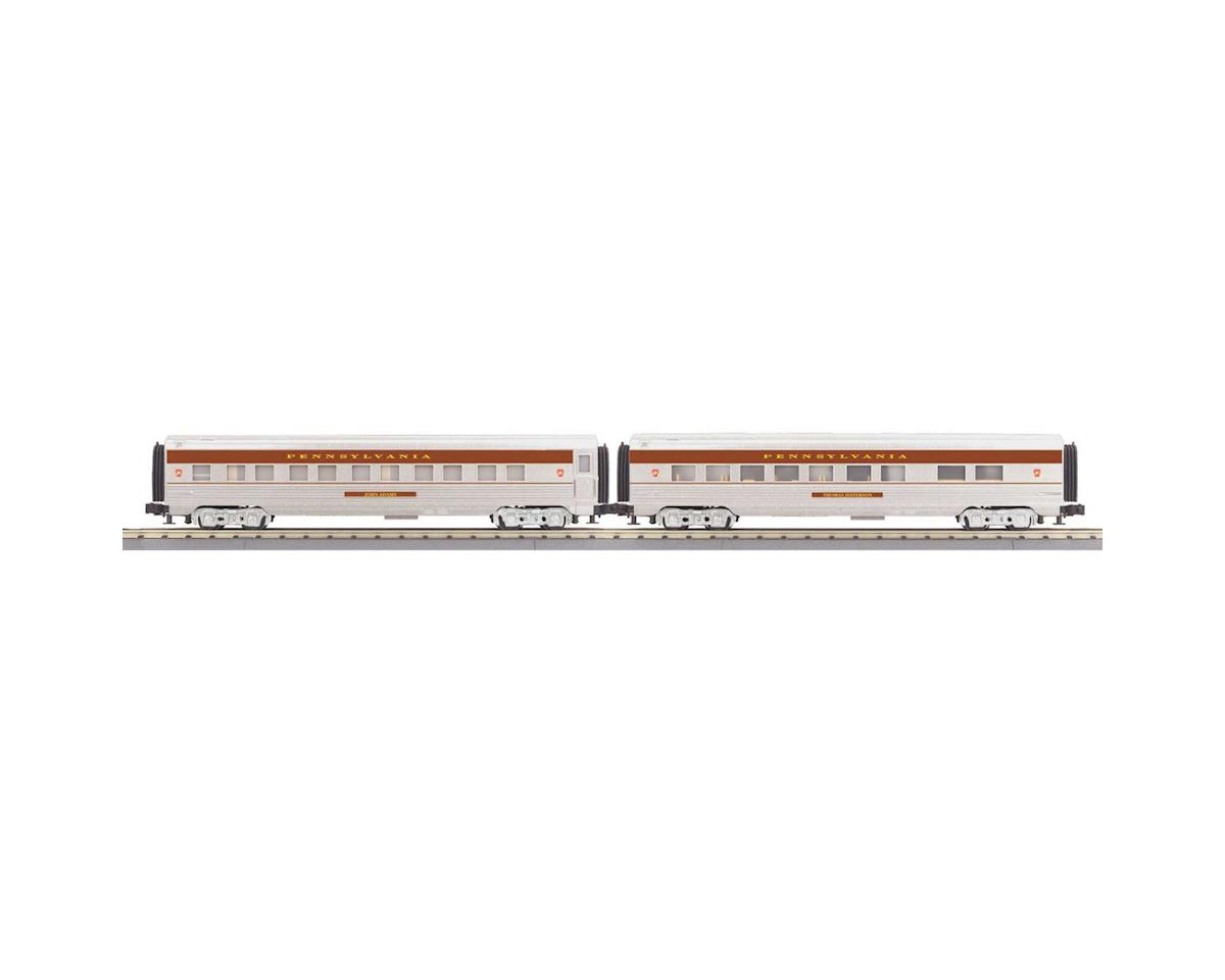 O-27 60' Streamlined Sleeper/Diner, PRR by MTH Trains