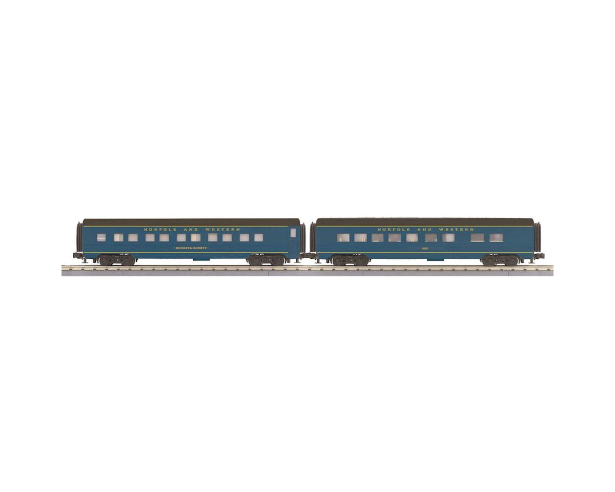 MTH Trains O-27 60' Streamline Sleeper/Diner, N&W