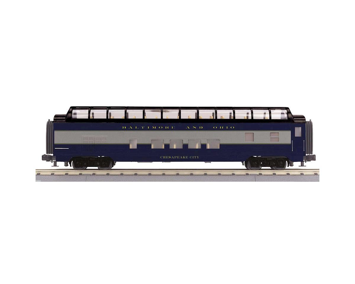MTH Trains O-27 60' Streamline Full Vista Dome, B&O