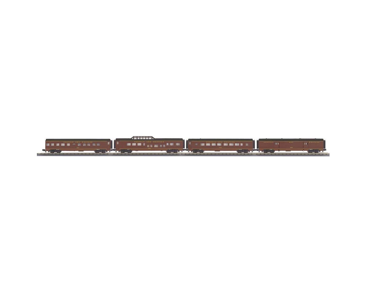MTH Trains O-27 60' Streamline Passenger, N&W (4)