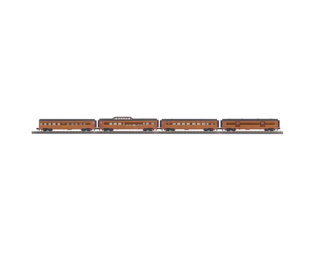 MTH Trains O-27 60' Streamline Passenger, PRR (4)