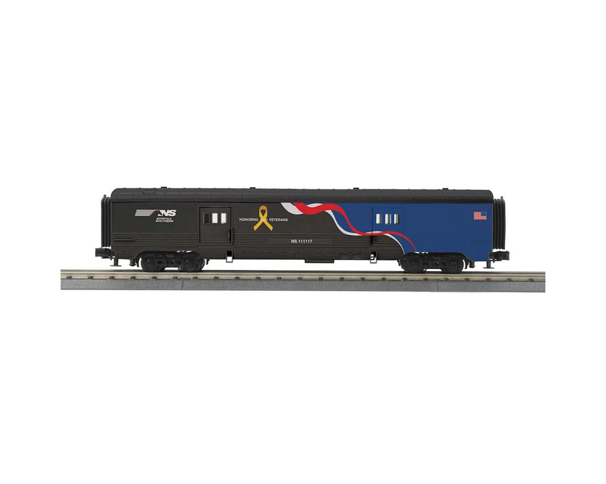 MTH Trains O-27 60' Streamlined Baggage Car, NS/Veteran