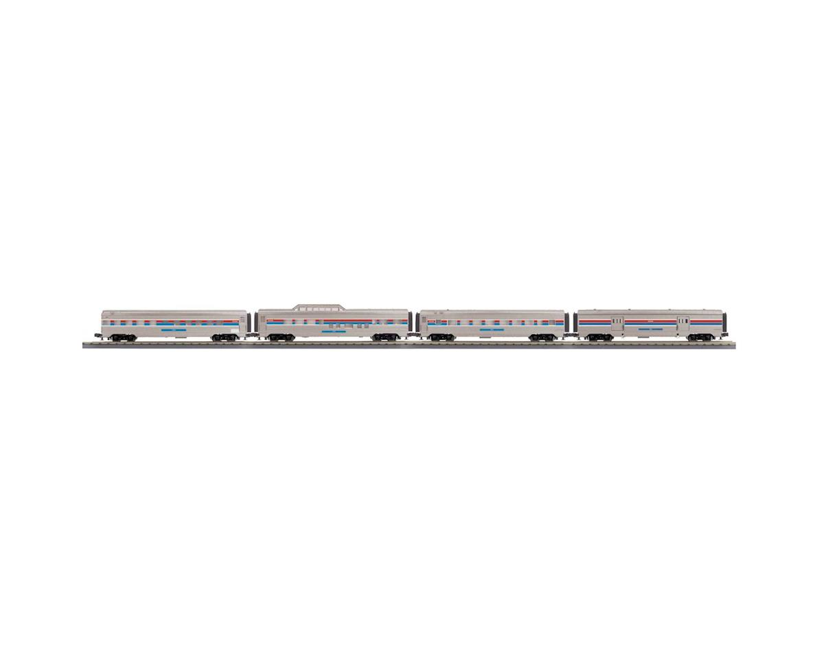 MTH Trains O-27 60' Streamlined Passenger, Amtrak (4)