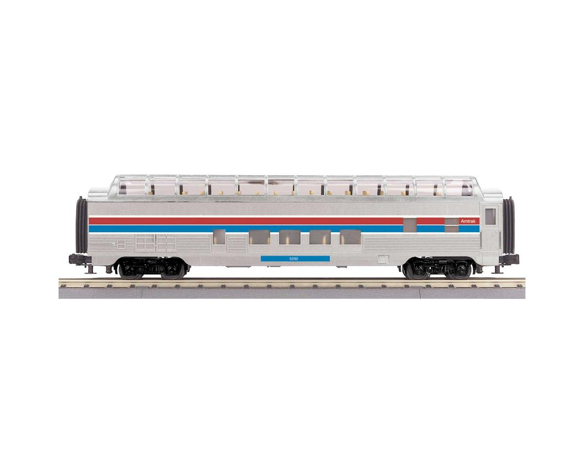 MTH Trains O-27 60' Streamlined Full Vista Dome, Amtrak