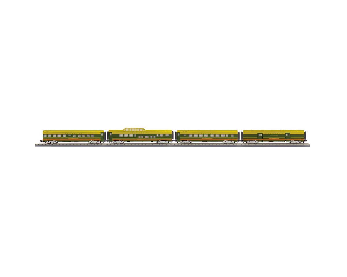MTH Trains O-27 60' Streamlined Passenger, SBD (4)