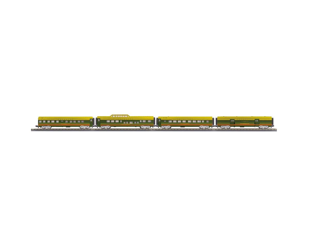 O-27 60' Streamlined Passenger, SBD (4) by MTH Trains