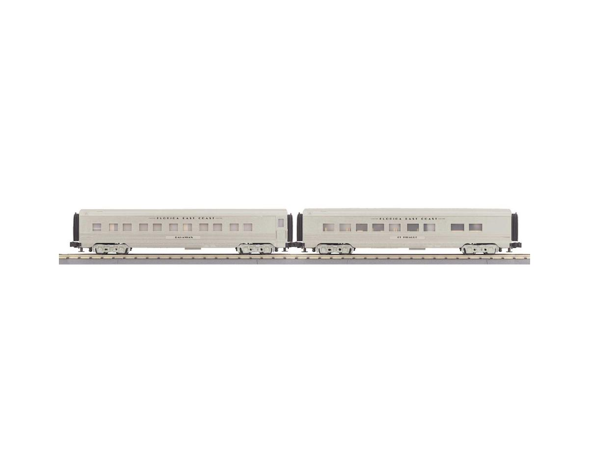 MTH Trains O-27 60' Streamline Sleeper/Diner, FEC