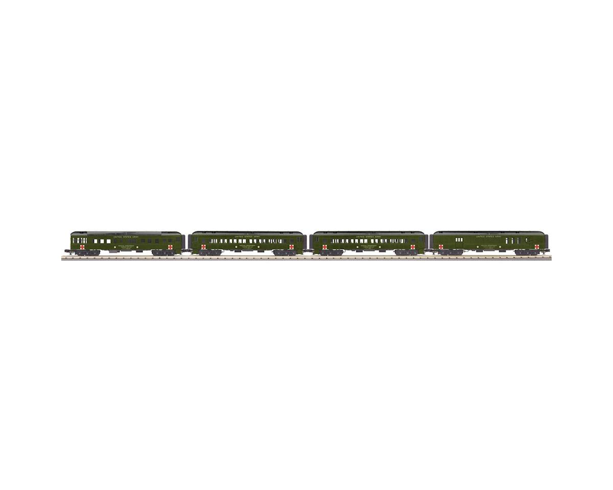MTH Trains O-27 60' Madison Passenger, US Army (4)