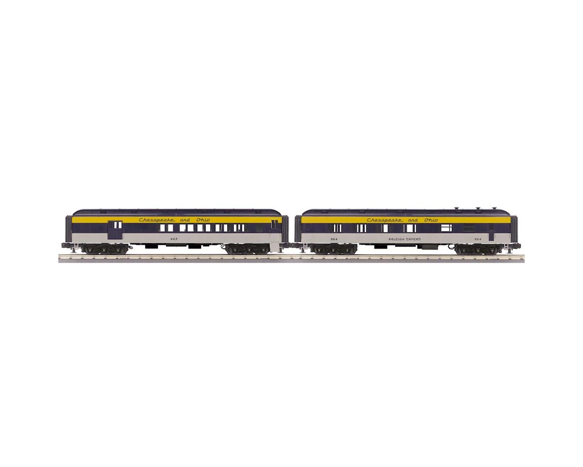 MTH Trains O-27 60' Madison Combo/Diner, C&O #443