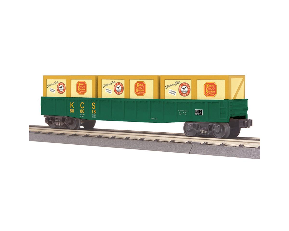 MTH Trains O-27 Gondola w/Crates, KCS