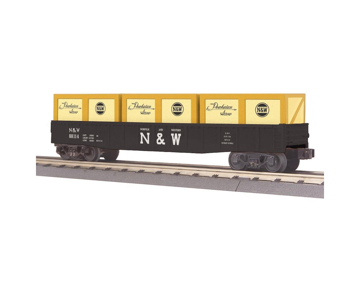 MTH Trains O-27 Gondola w/Crates, N&W