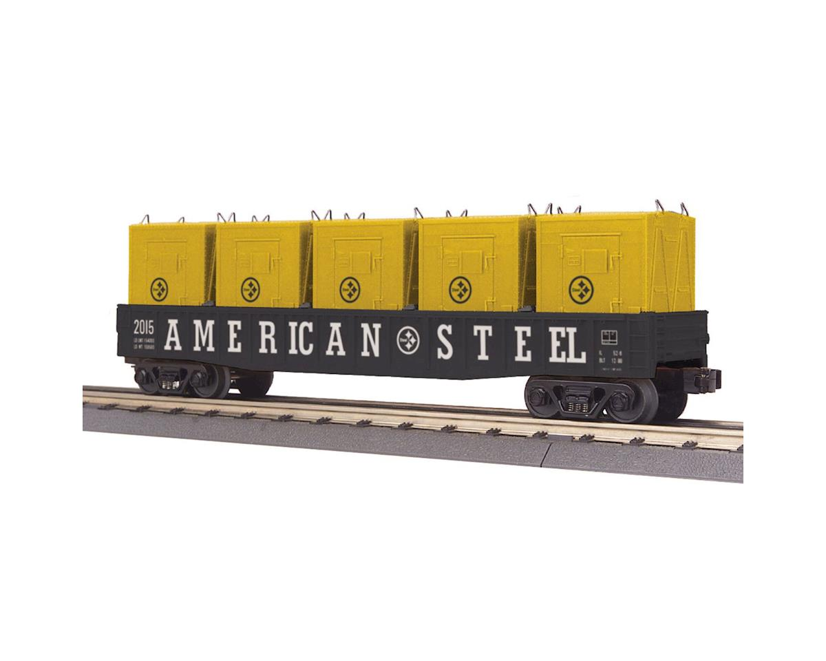 MTH Trains O-27 Gondola w /LCL Containers, American Steel