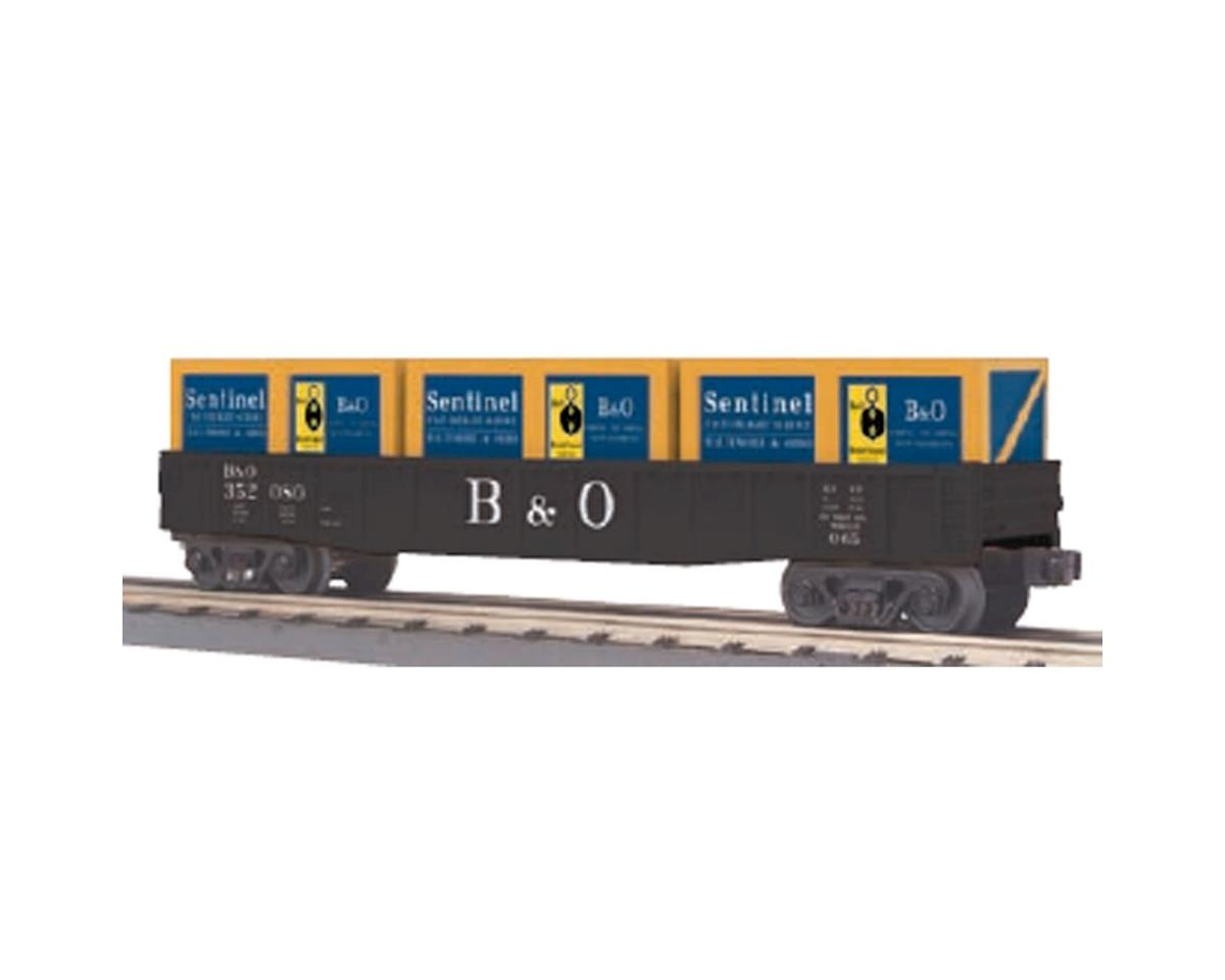 MTH Trains O-27 Gondola w/Crates, B&O