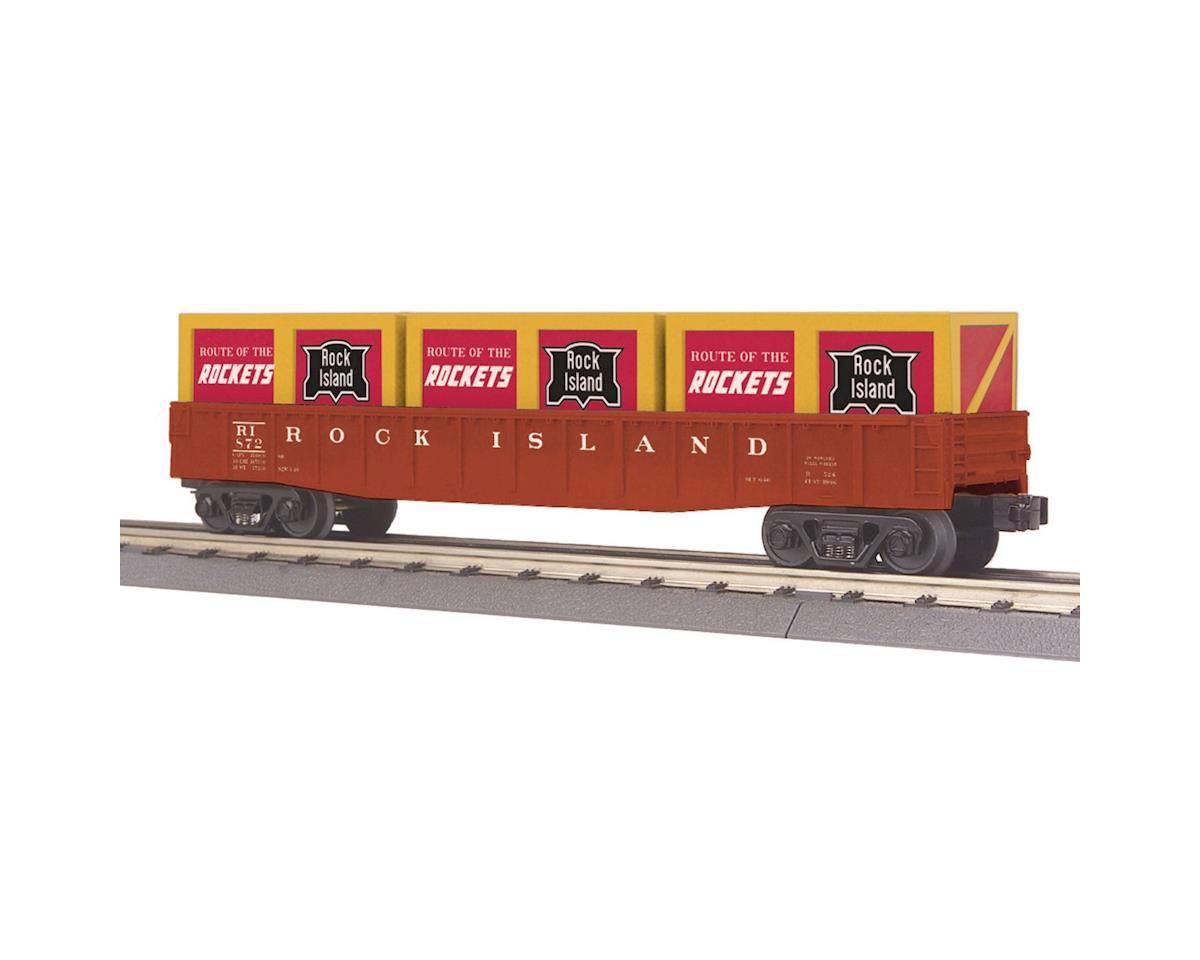 MTH Trains O-27 Gondola w/Crates, RI