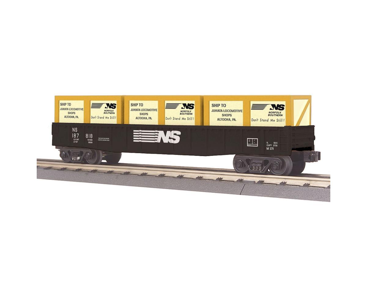 MTH Trains O-27 Gondola w/Crates, NS
