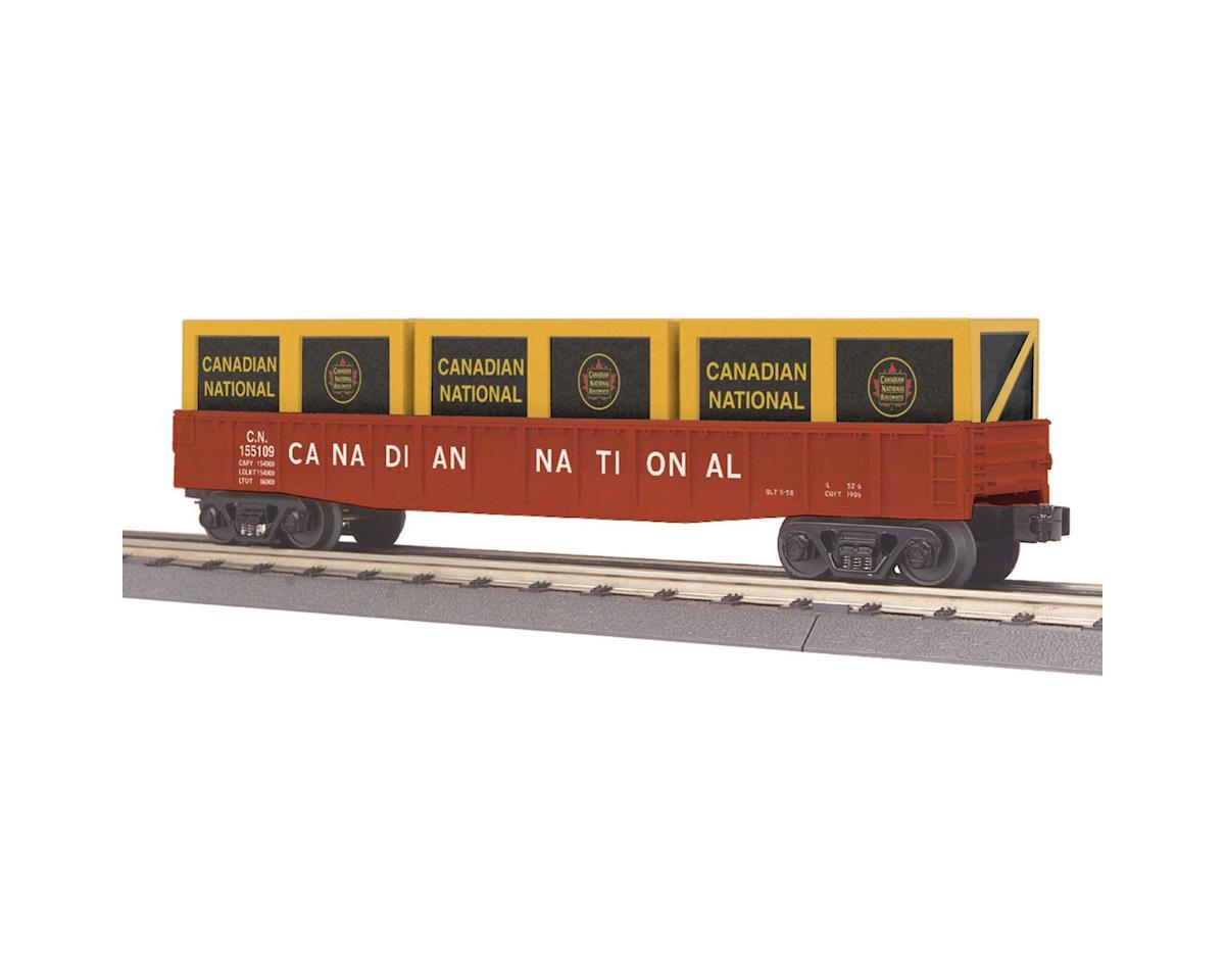 MTH Trains O-27 Gondola w/Crates, CN