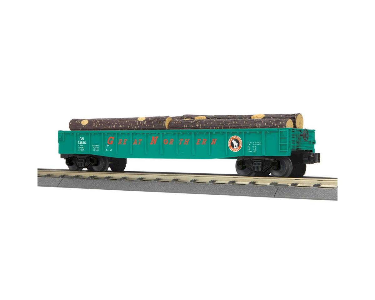 MTH Trains O-27 Gondola w/Log Load, GN