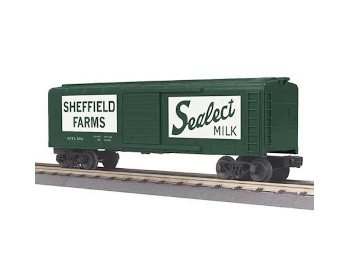 MTH Trains O-27 Rounded Roof Box, Seffield Farms