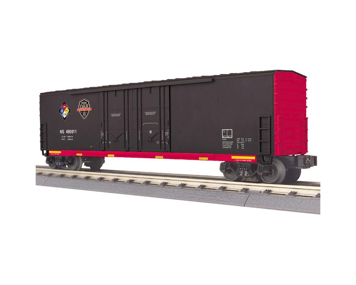 MTH Trains O-27 50' Double Door Plug Box, NS/Hazmat #490911