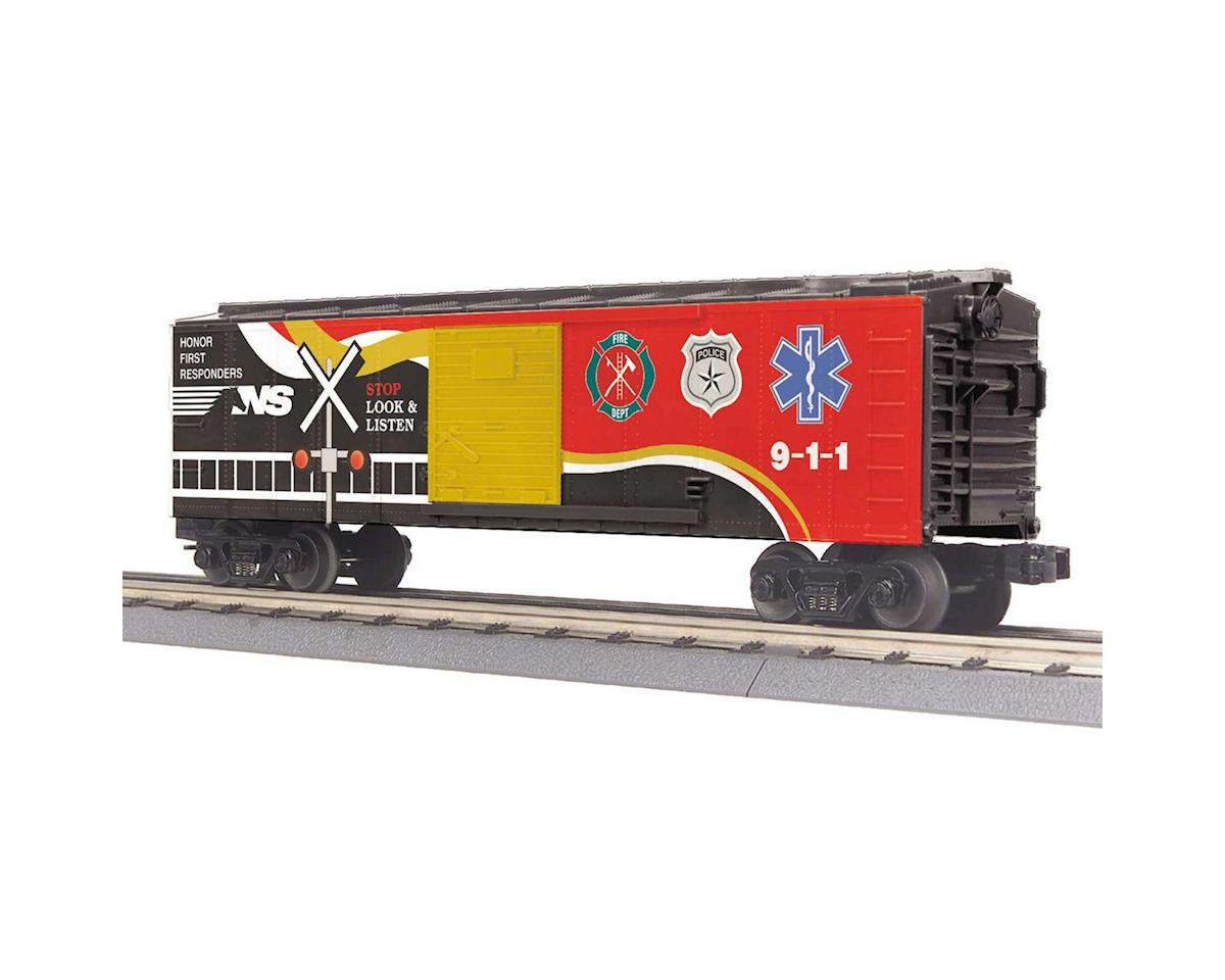 MTH Trains O-27 Box w/Blinking LEDs, NS/First Responder
