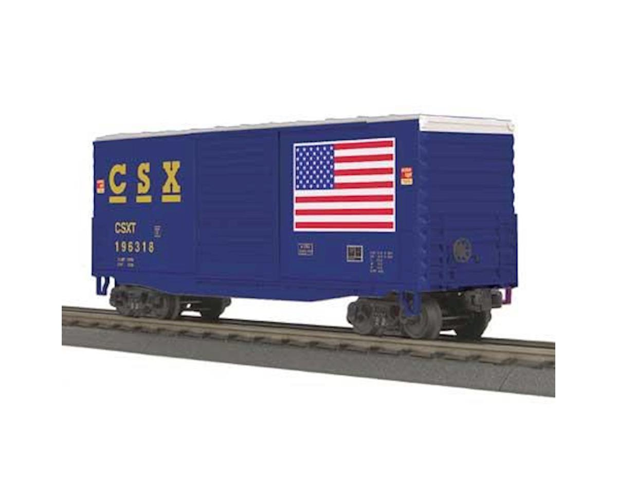 MTH Trains O-27 40' High Cube Box, CSX #196318