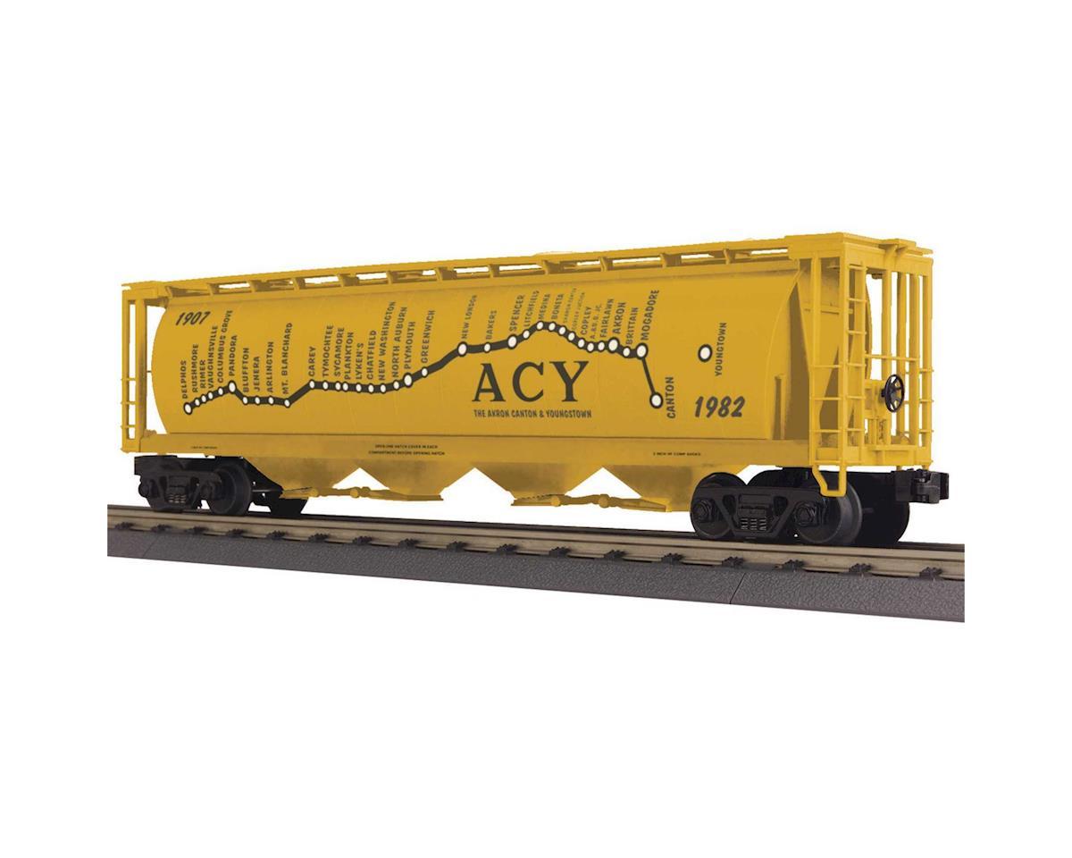 MTH Trains O-27 4-Bay Cylindrical Hopper, AC&Y
