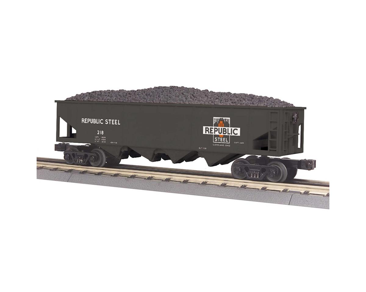 MTH Trains O-27 4-Bay Hopper, Republic Steel #218