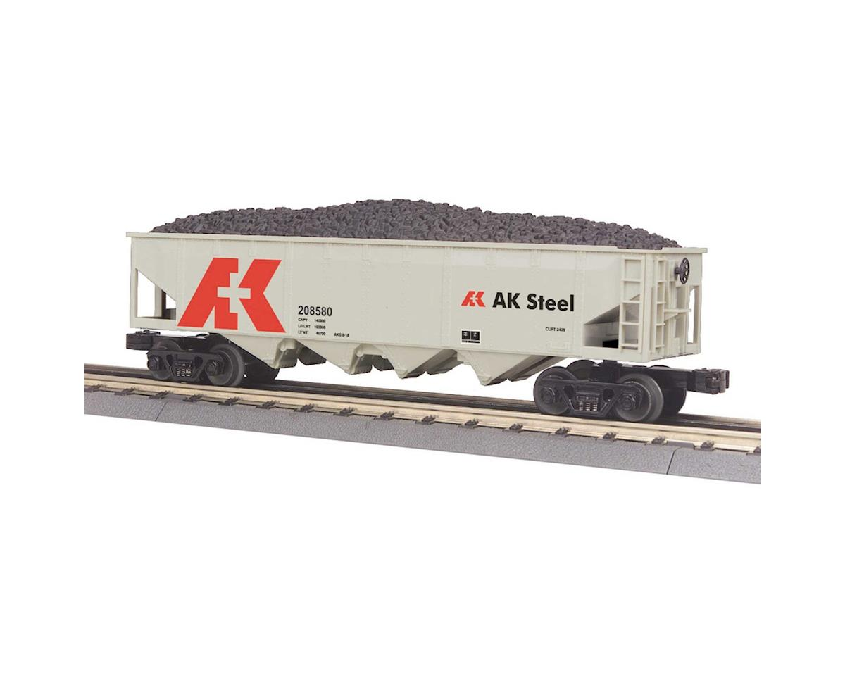MTH Trains O-27 4-Bay Hopper, AK Steel #208580