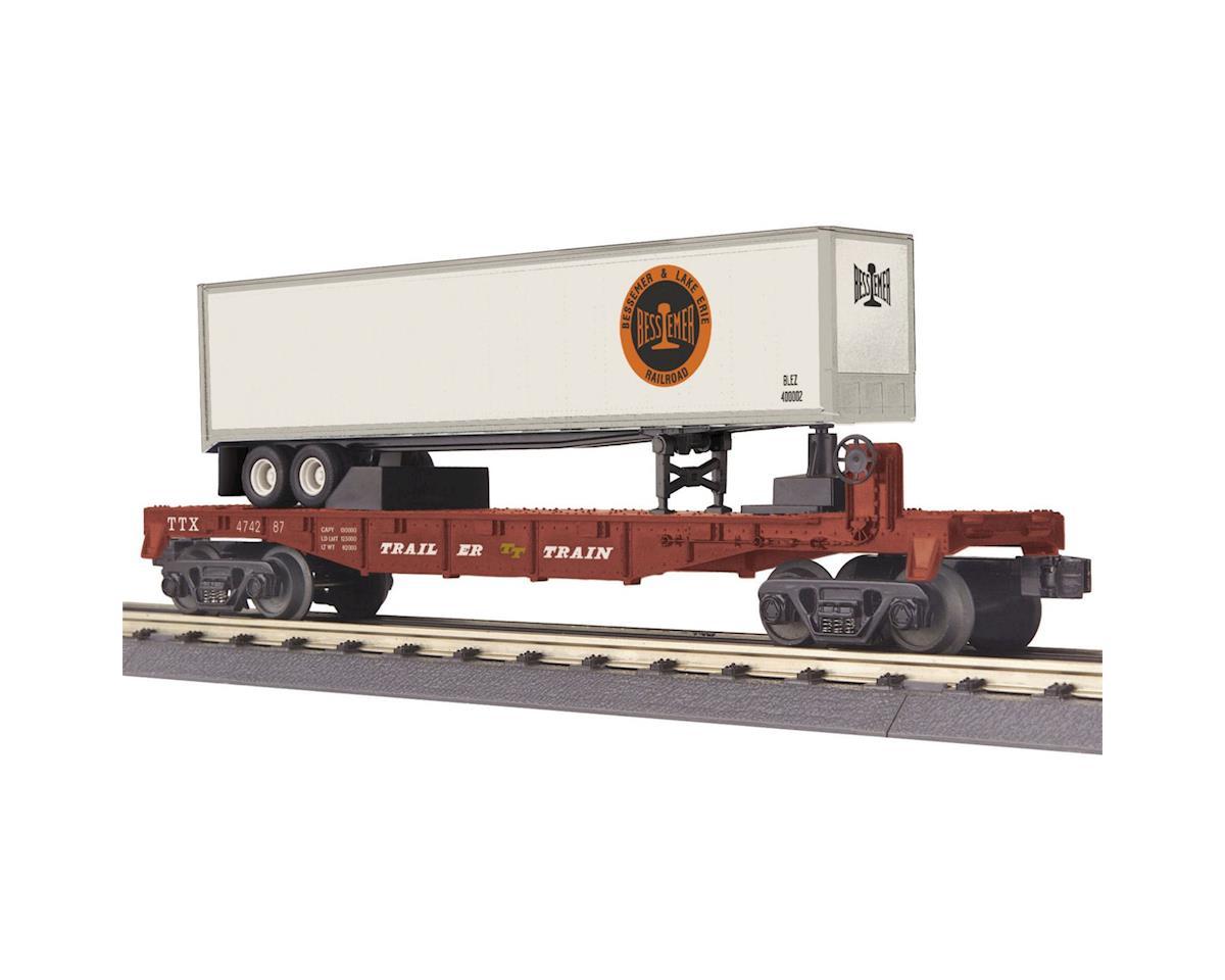 MTH Trains O-27 Flat w/40' Trailer, B&LE