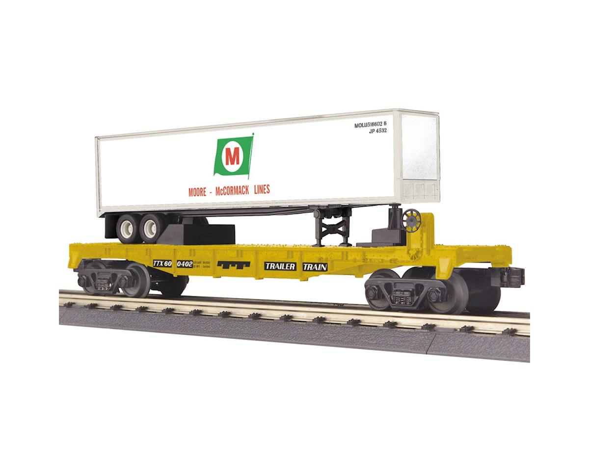 MTH Trains O-27 Flat w/40' Trailer, Moore McCormack Lines