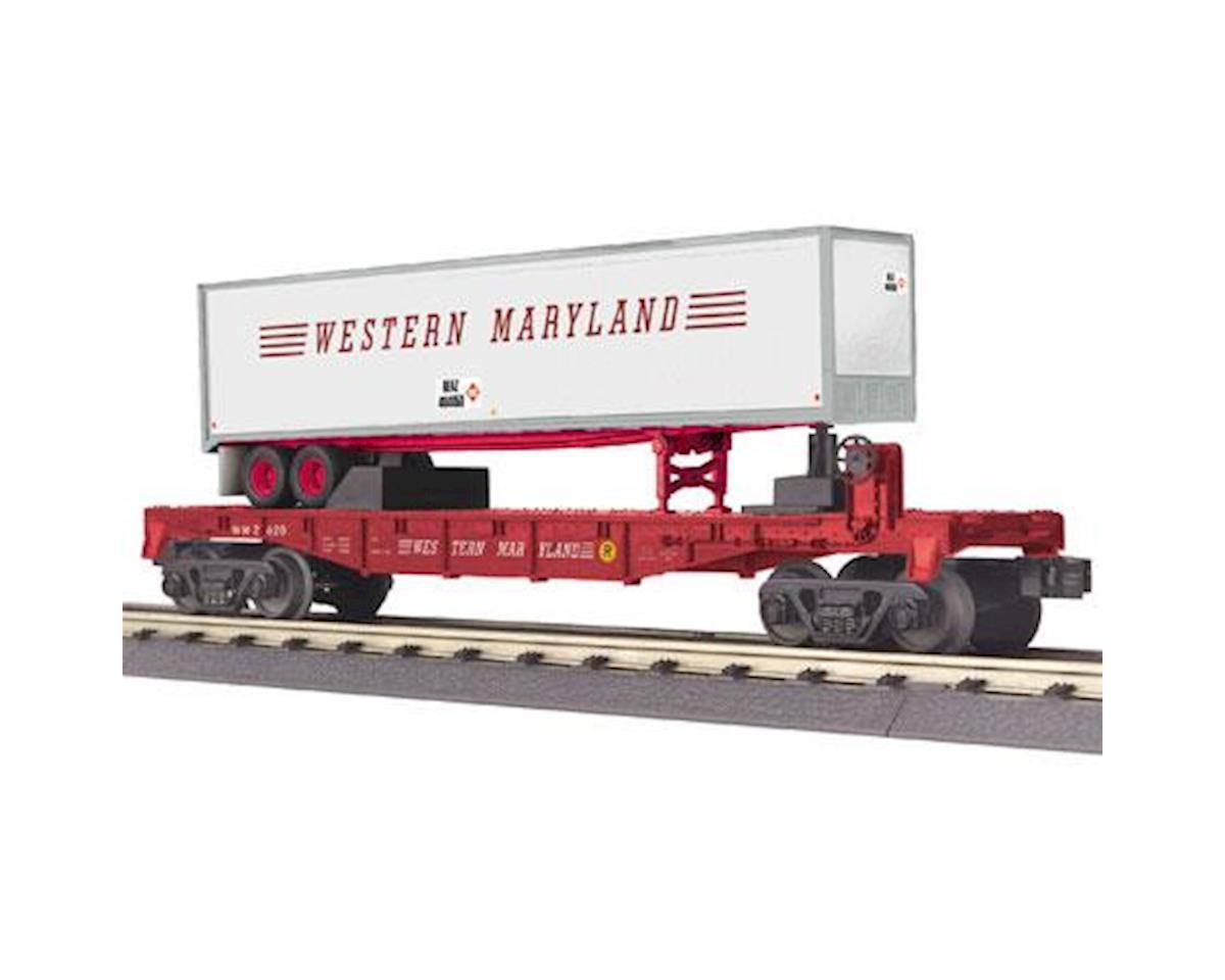 MTH Trains O-27 Flat w/40' Trailer, WM