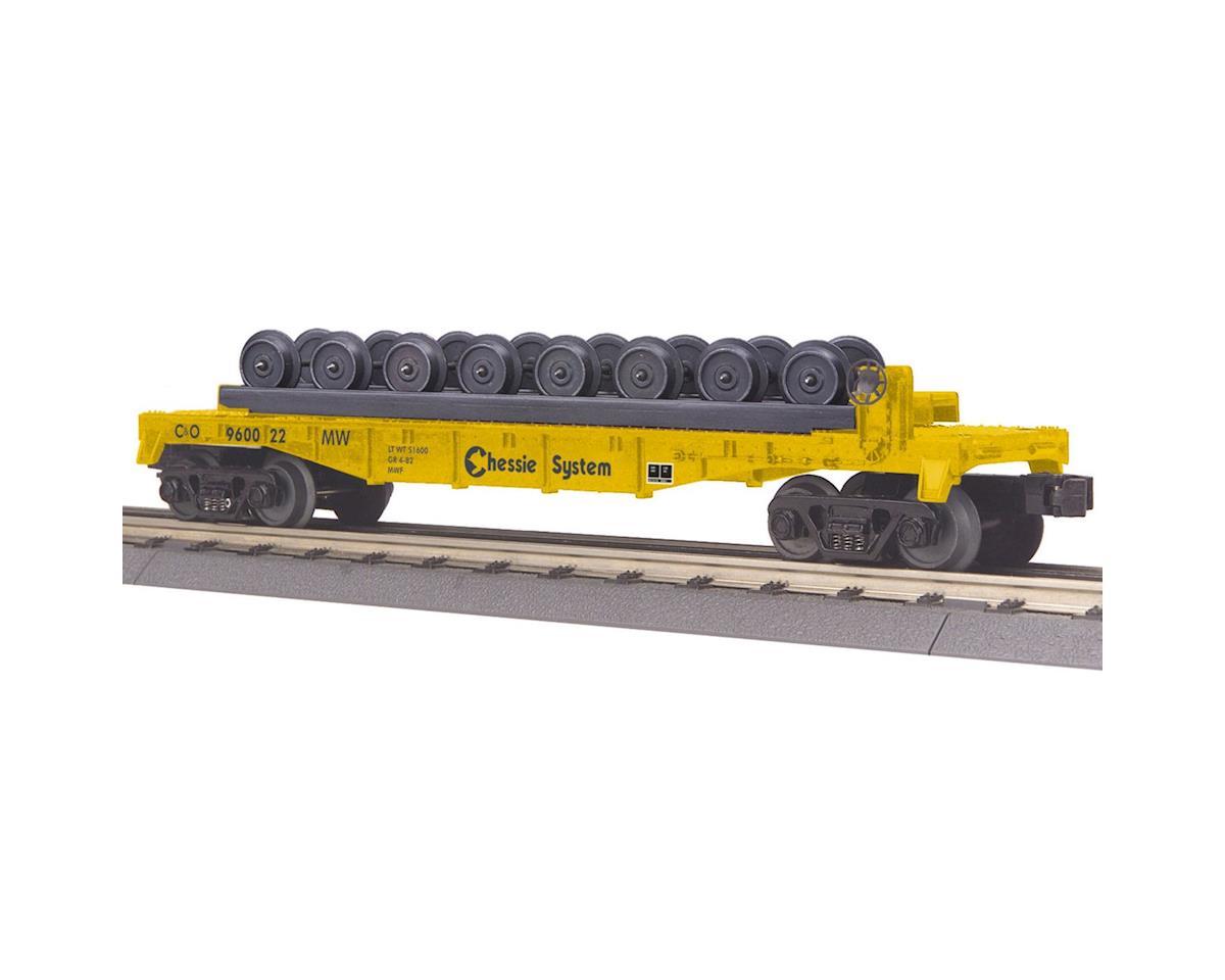 MTH Trains O-27 Flat w/Wheel Set, Chessie