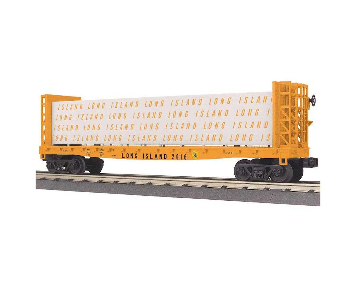 MTH Trains O-27 Bulkhead Flat w/Lumber Load, LIRR